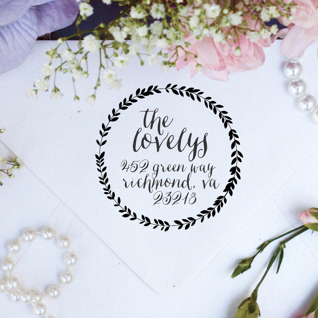 "Return Address Stamp ""Lovelys"""