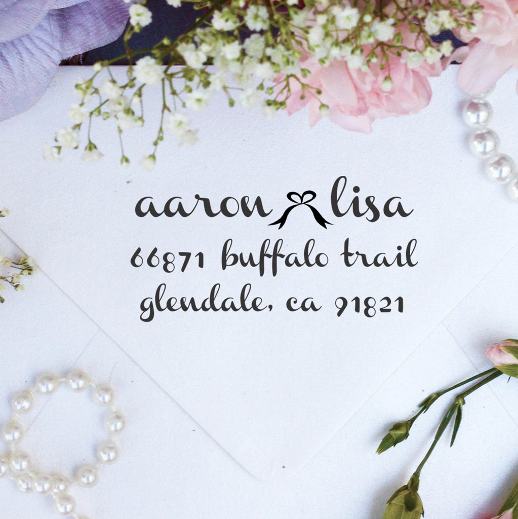 "Return Address Stamp ""Aaron & Lisa"""