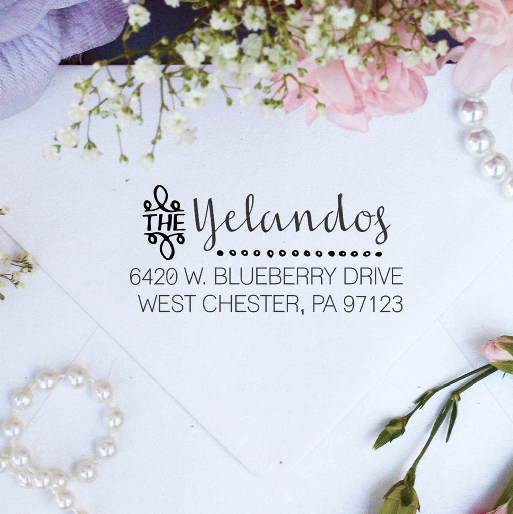 "Return Address Stamp ""Yelandos"""