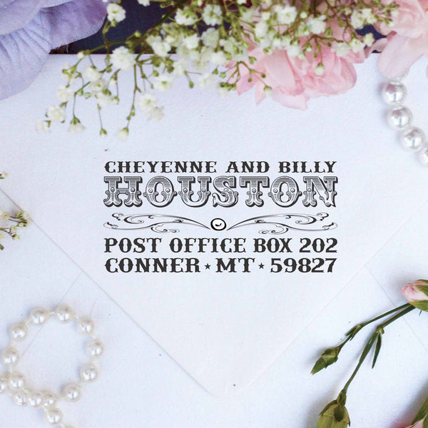 "Return Address Stamp ""Houston"""