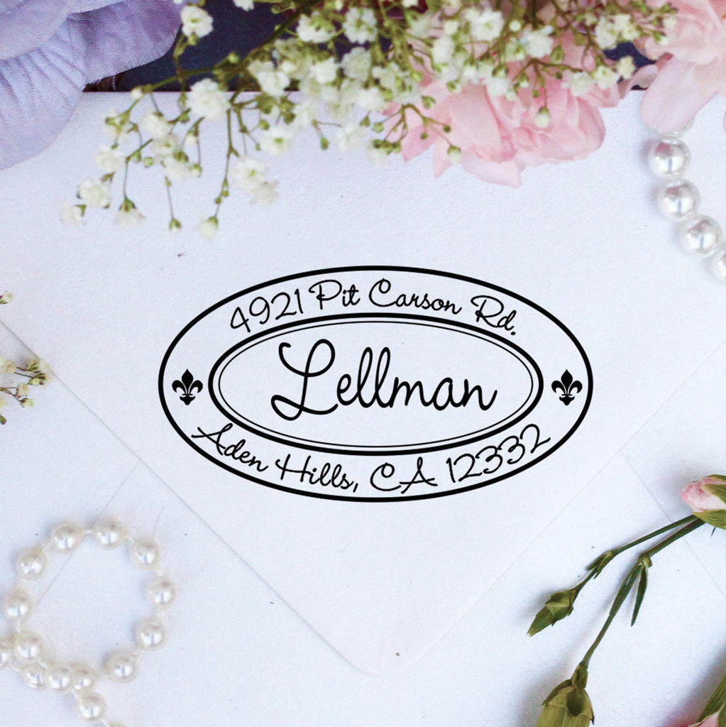 "Return Address Stamp ""Lellman"""