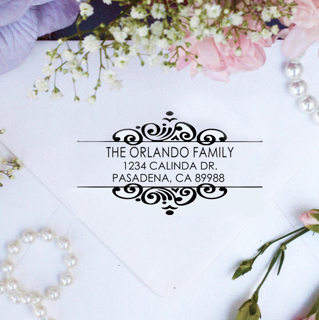 "Return Address Stamp ""Orlando Family"""