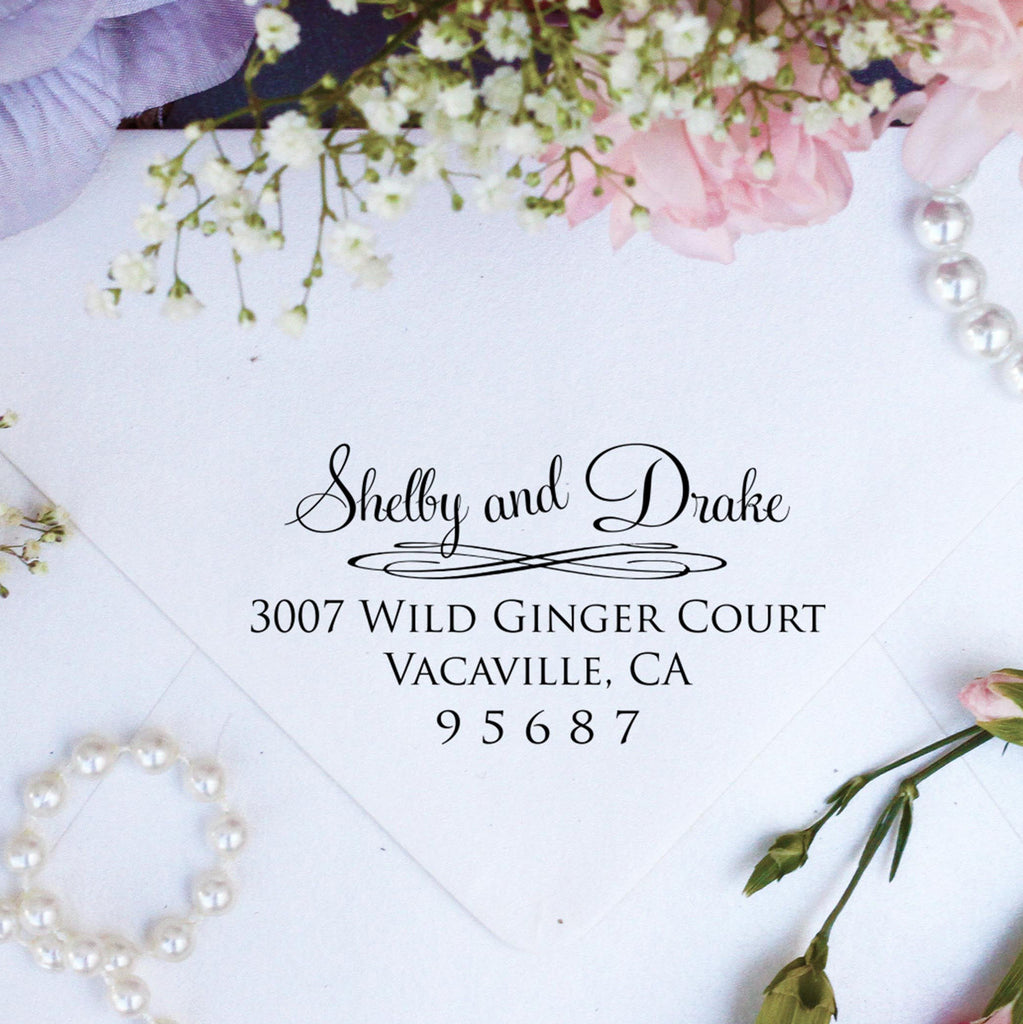 "Return Address Stamp ""Shelby & Drake"""