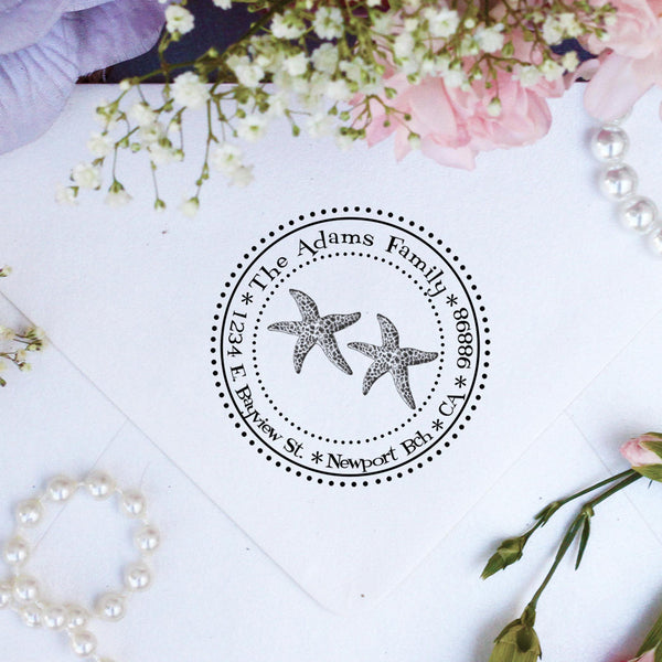 "Return Address Stamp ""Starfish"""