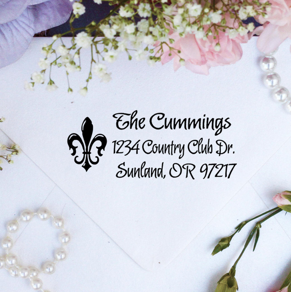 "Return Address Stamp ""Cummings"""