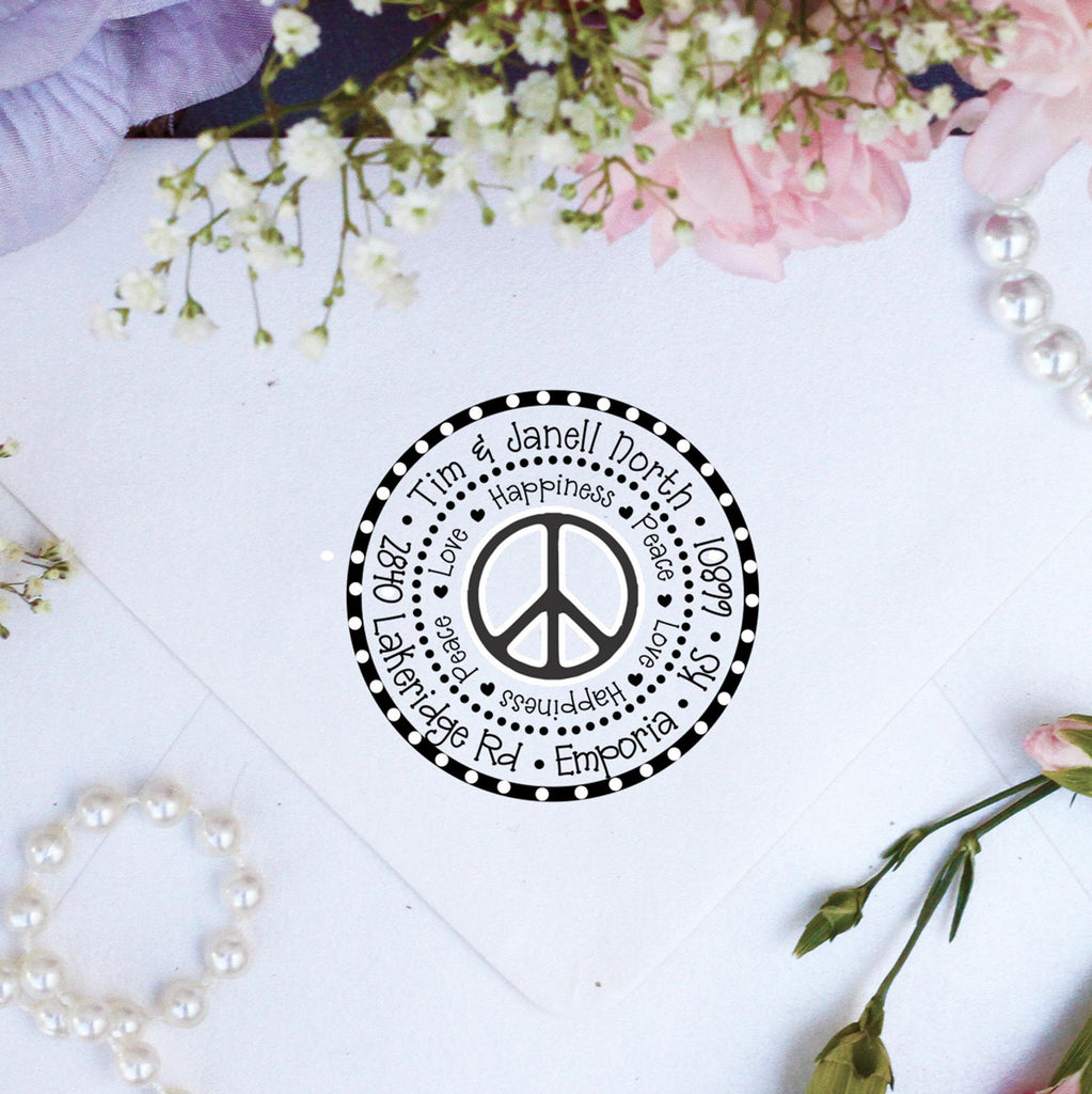 "Return Address Stamp ""Peace"""