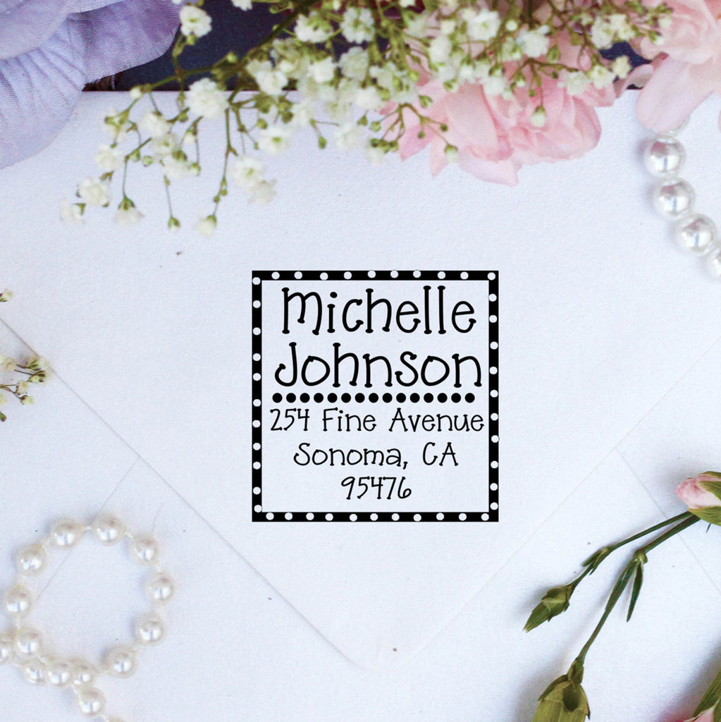 "Return Address Stamp ""Michelle Johnson"""