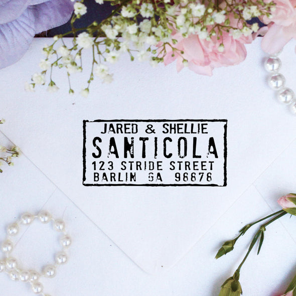 "Return Address Stamp ""Santicola"""