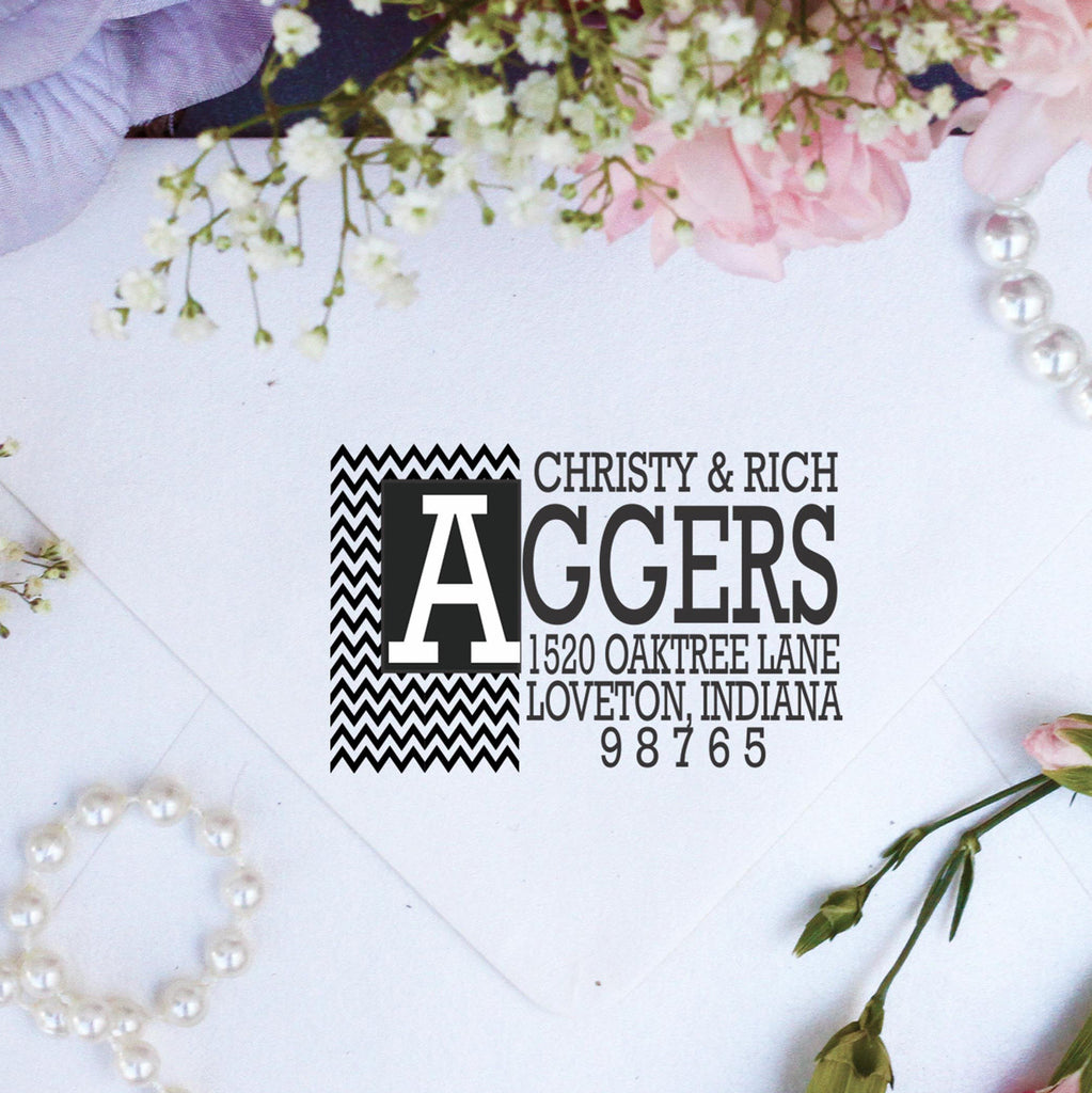 "Return Address Stamp ""Aggers"""