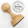 "Return Address Stamp, Custom Stamp, Personalized Address Stamp ""Gourmos"""