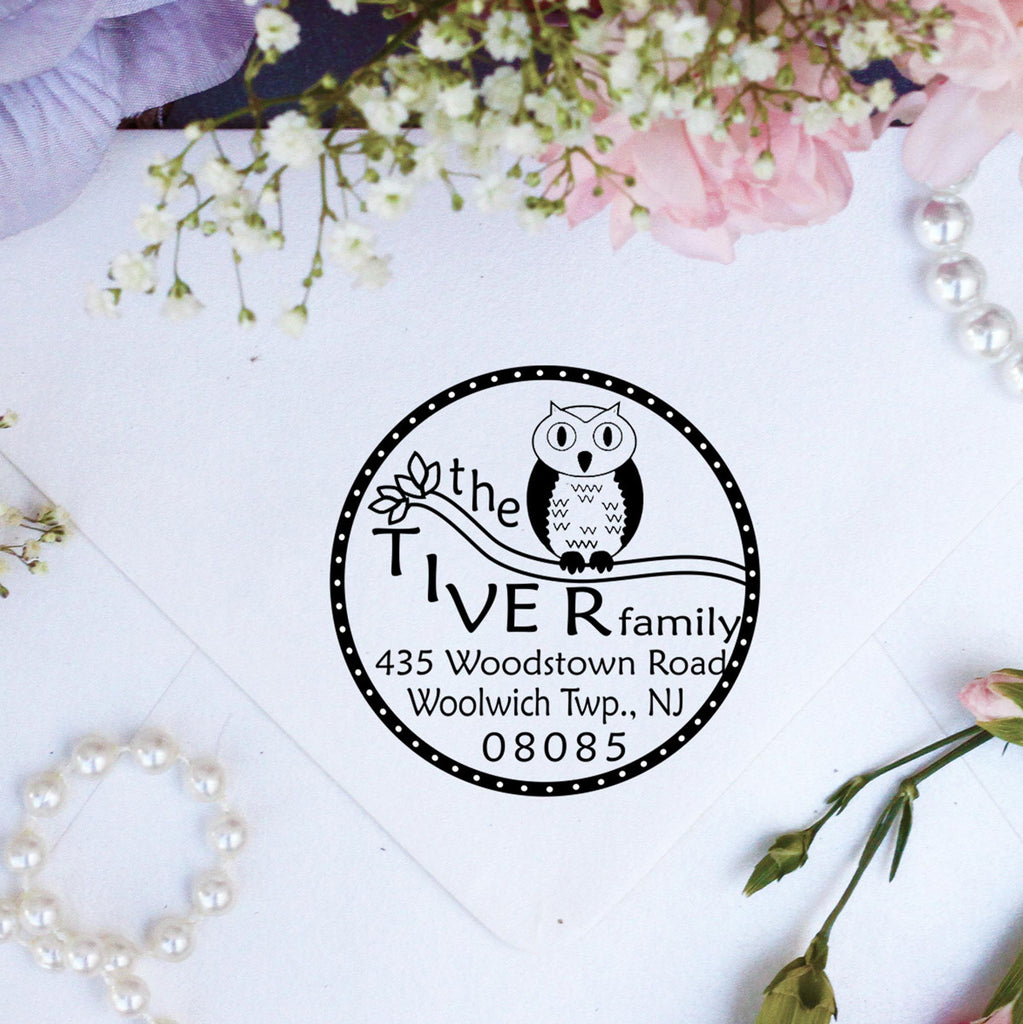 "Return Address Stamp ""Tiver"""