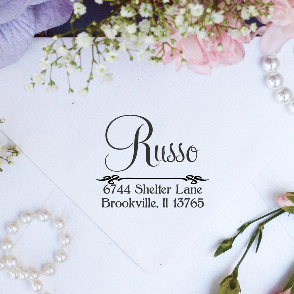 "Return Address Stamp ""Russo"""