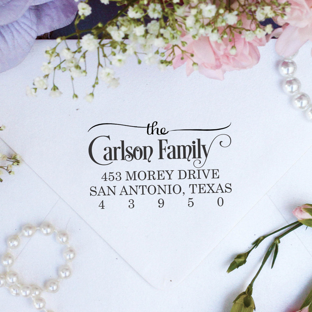 "Return Address Stamp ""The Carlson Family"""