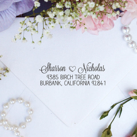 "Return Address Stamp ""Sharron Nicholas"""