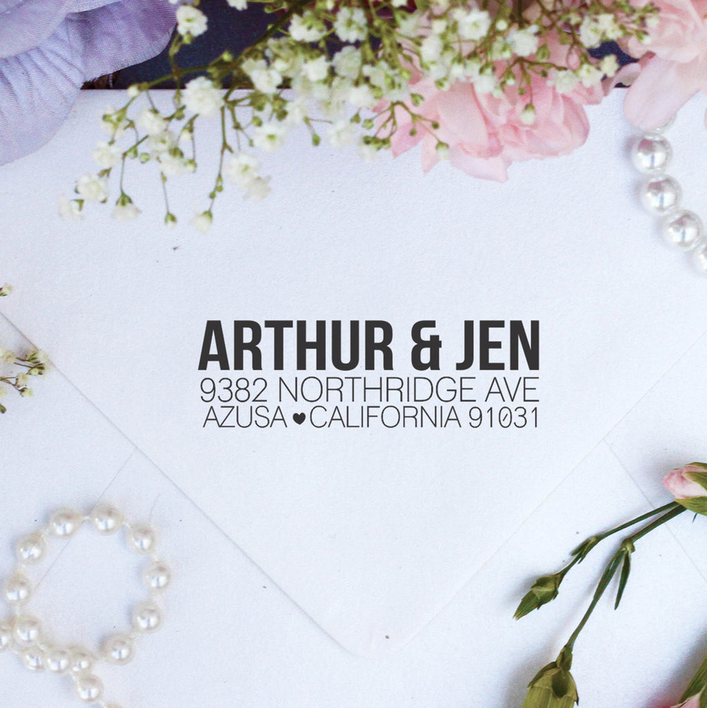 "Return Address Stamp ""Arthur Jen"""