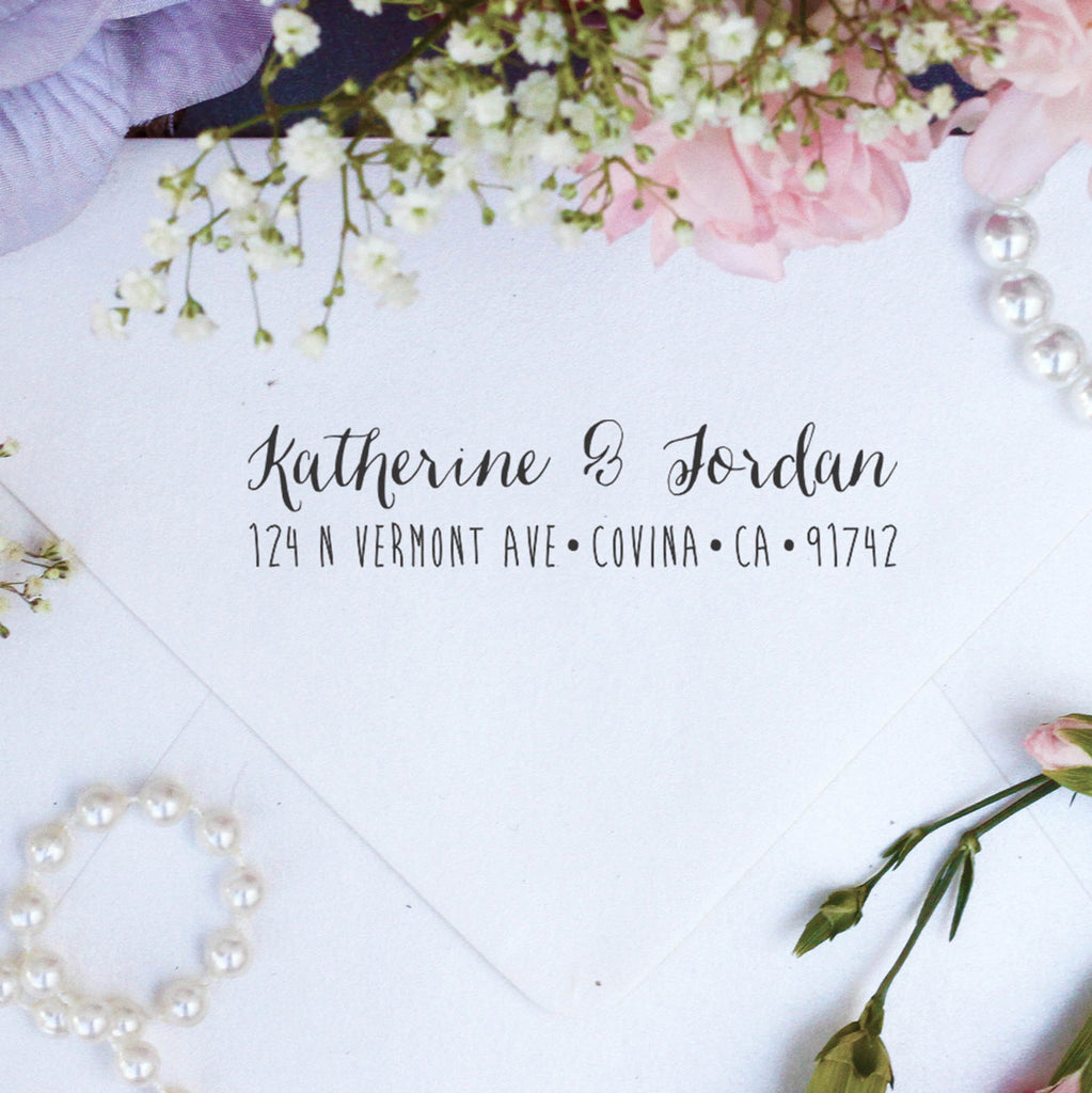 "Return Address Stamp ""Katherine Jordan"""