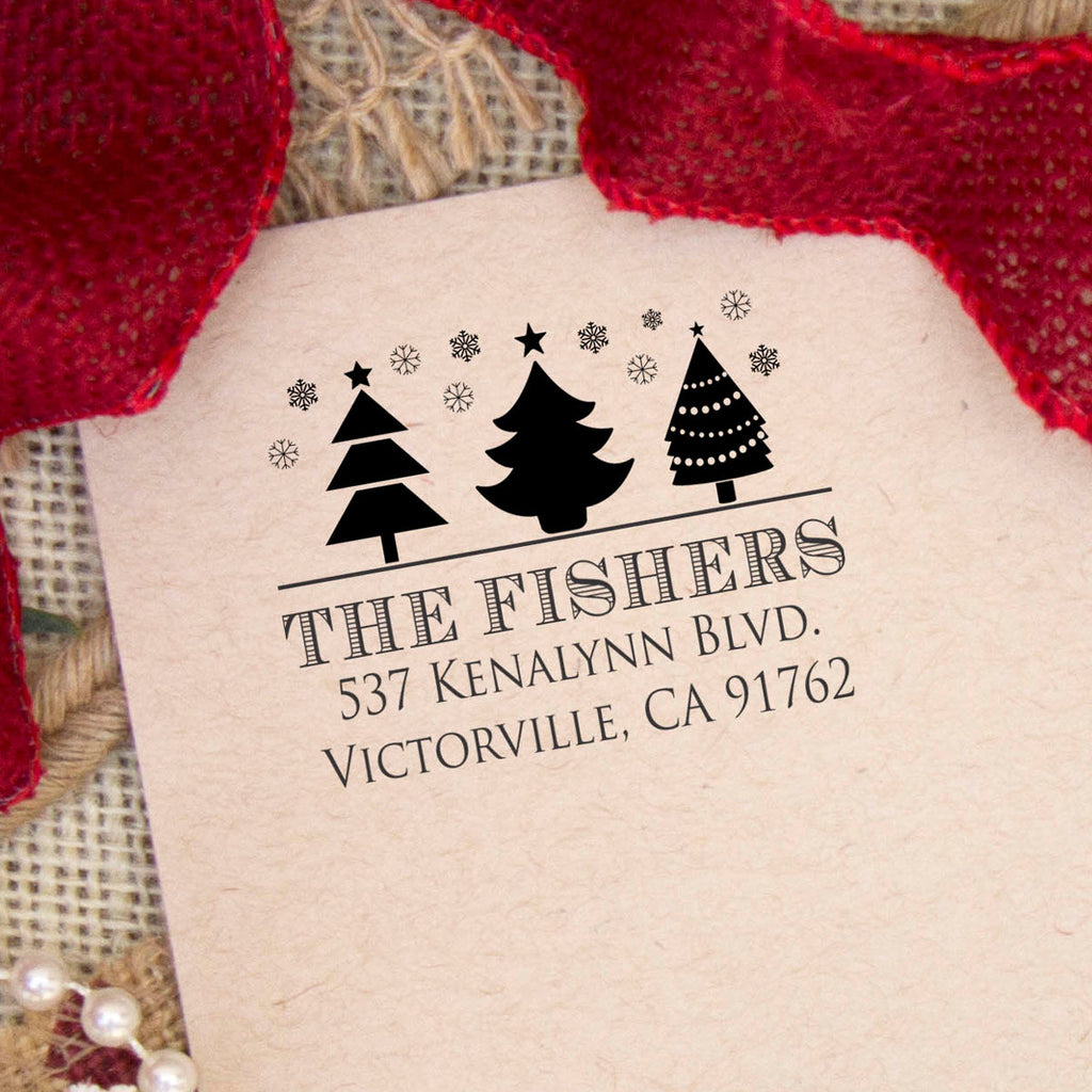 "Return Address Stamp ""Fishers"""