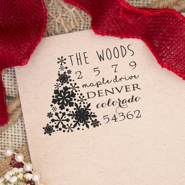 "Return Address Stamp ""Woods"""