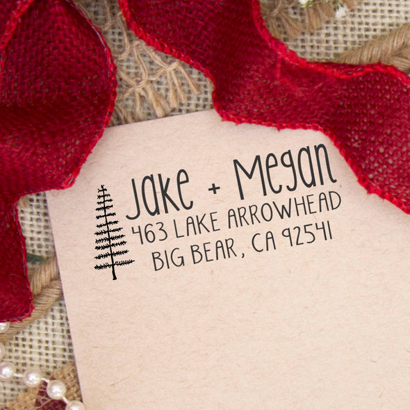 "Return Address Stamp ""Jake & Megan"""