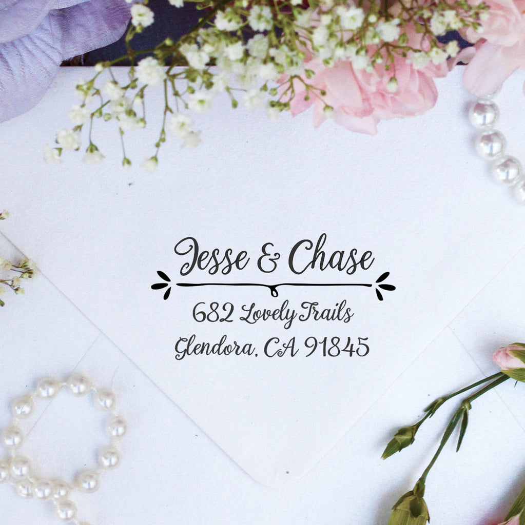 "Return Address Stamp ""Jesse & Chase"""