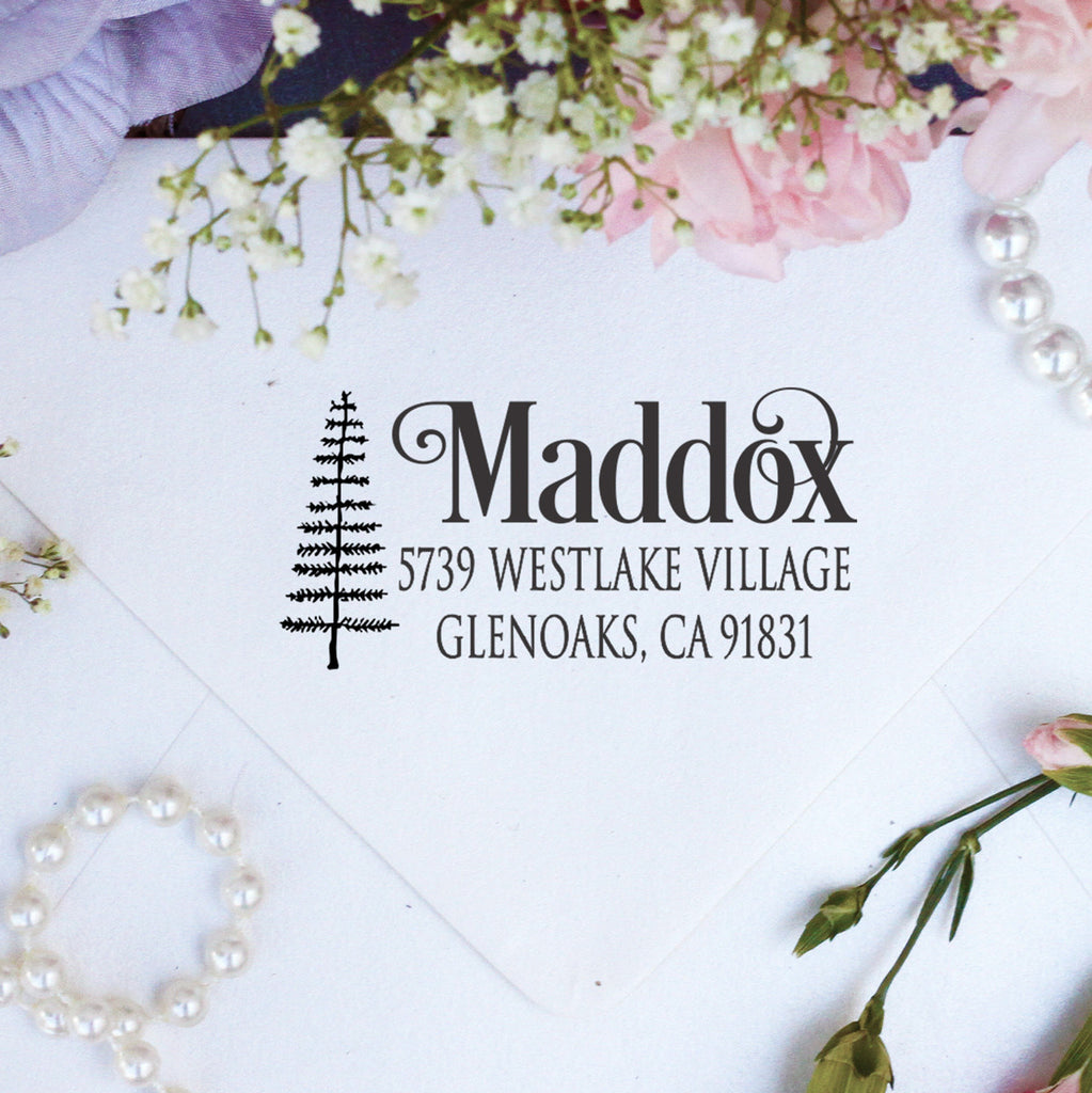 "Return Address Stamp ""Maddox"""