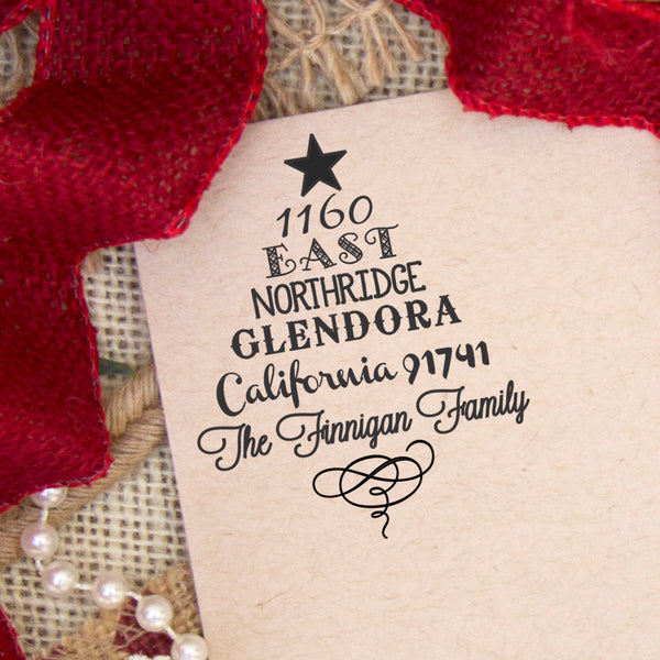 Return Address Stamp, Custom Christmas Stamp, Personalized Christmas Stamp