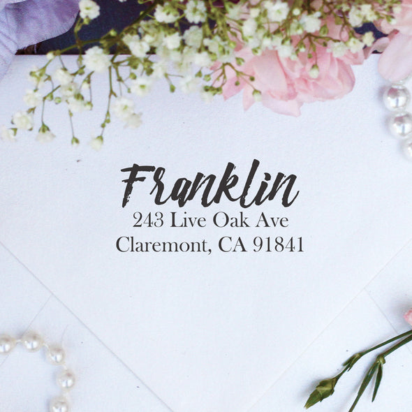 "Return Address Stamp ""Franklin"""