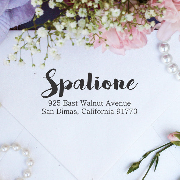 "Return Address Stamp ""Spalione"""