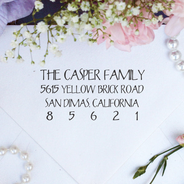 "Return Address Stamp ""Casper Family"""