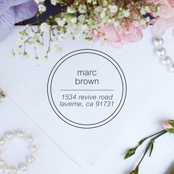"Return Address Stamp ""Marc Brown"""