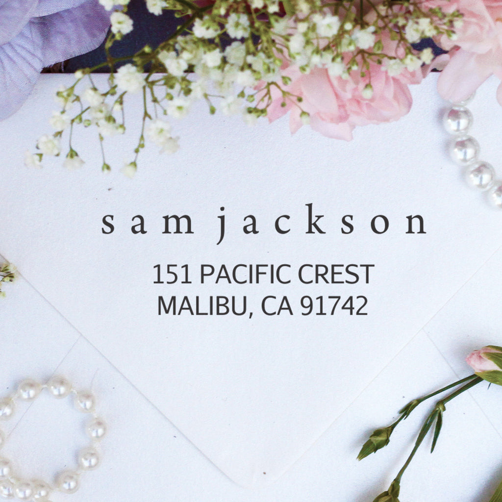 "Return Address Stamp ""Sam Jackson"""
