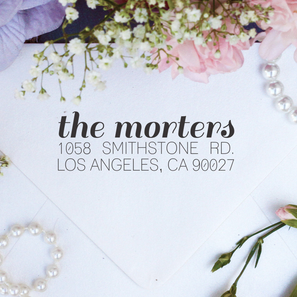 "Return Address Stamp ""Morters"""