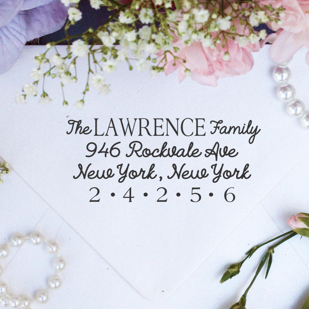 "Return Address Stamp ""Lawrence Family"""
