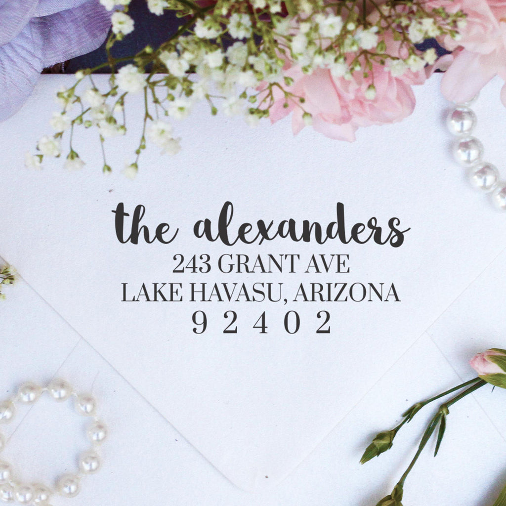 "Return Address Stamp ""Alexanders"""