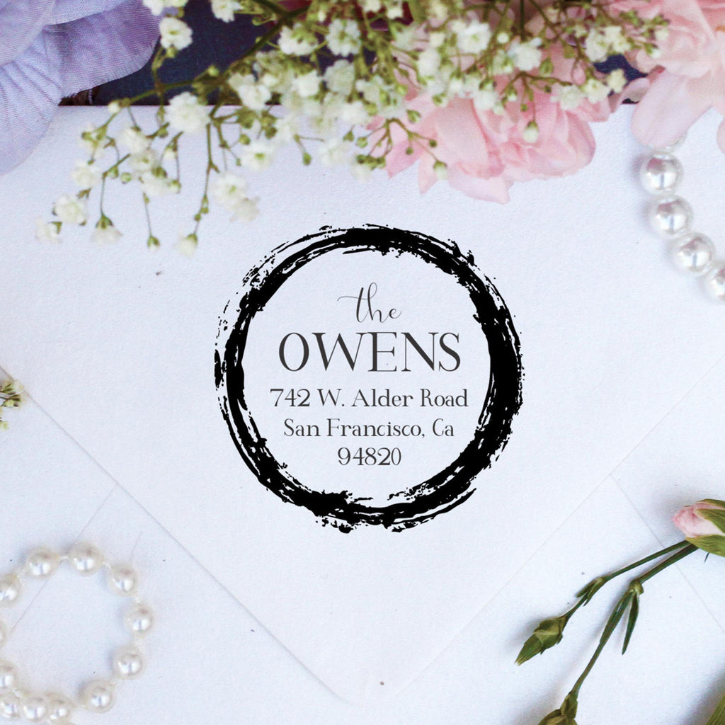"Return Address Stamp ""Owens"""