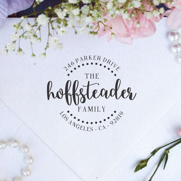 "Return Address Stamp ""Hoffsteader"""