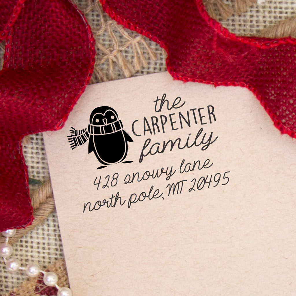 "Return Address Stamp ""Carpenter Family"""