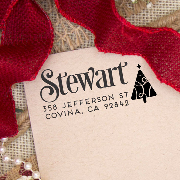 "Return Address Stamp ""Stewart"""