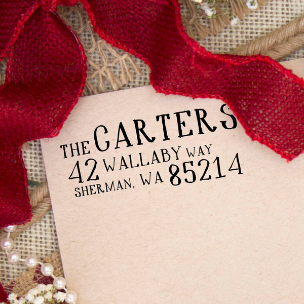 "Holiday Return Address Stamp ""The Carters"""