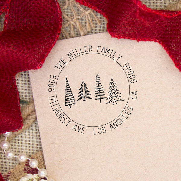 "Return Address Stamp ""Miller Family"""