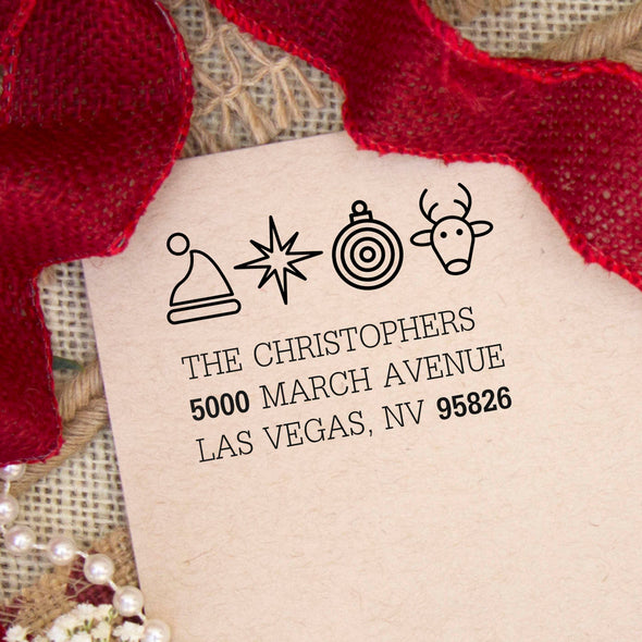 "Return Address Stamp ""Christophers"""