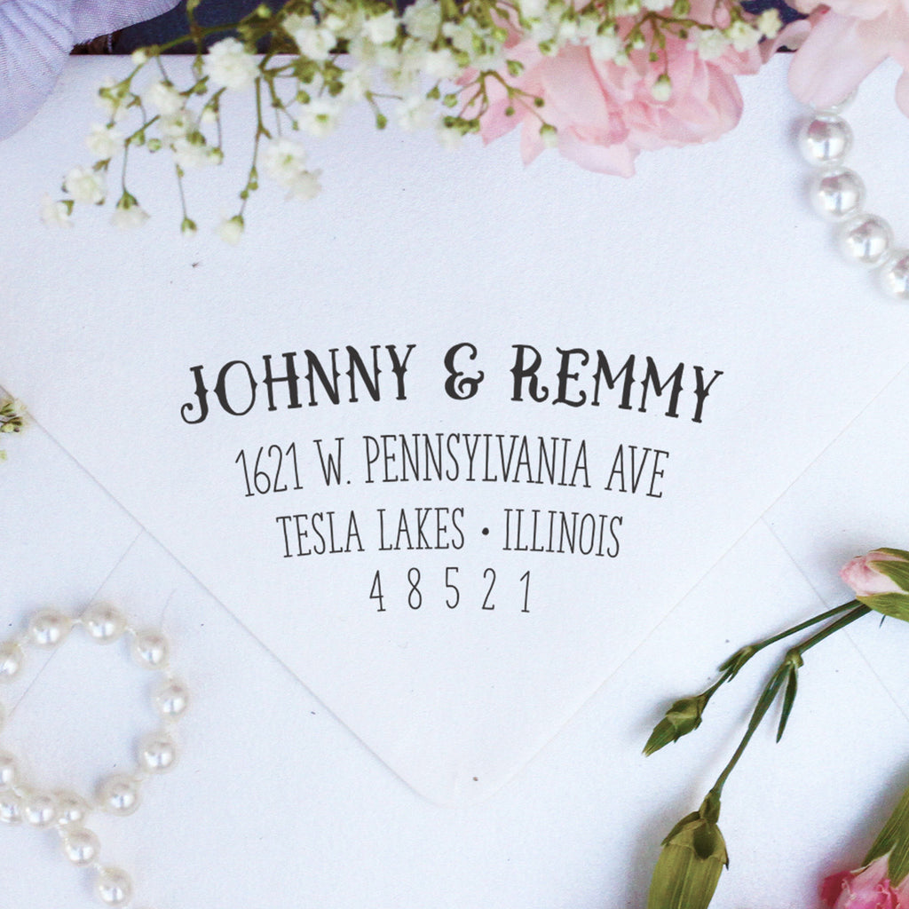 "Return Address Stamp ""Johnny & Remmy"""