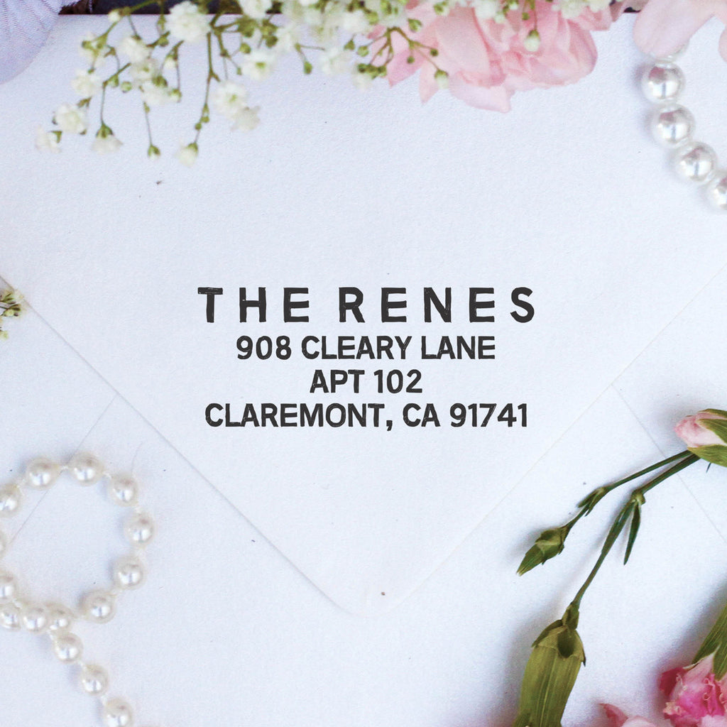 "Return Address Stamp ""Renes"""