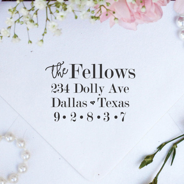 "Return Address Stamp ""The Fellows"""