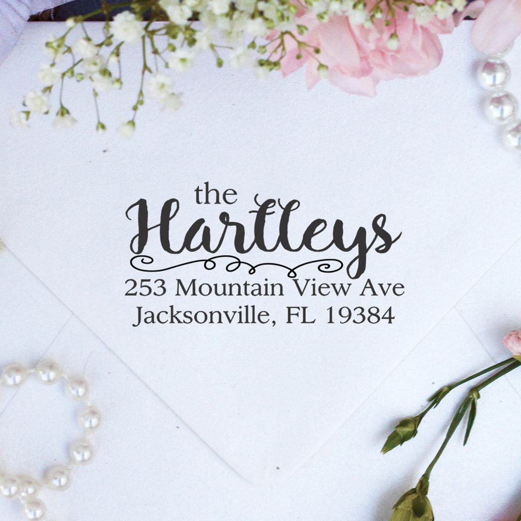 "Return Address Stamp ""The Hartleys"""