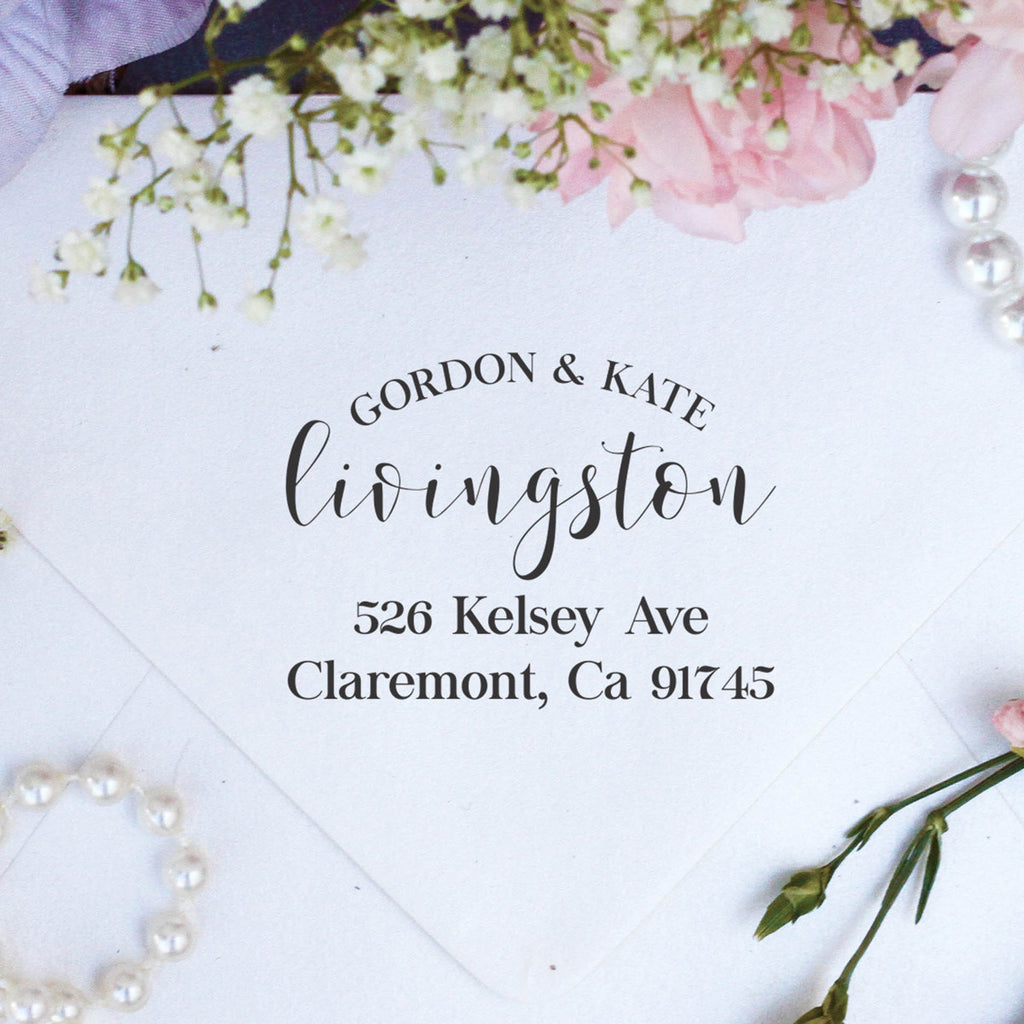 "Return Address Stamp ""Gordon Kate Livingston"""