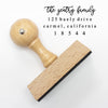 "Return Address Stamp, Custom Stamp, Personalized Address Stamp ""Gentry Family"""