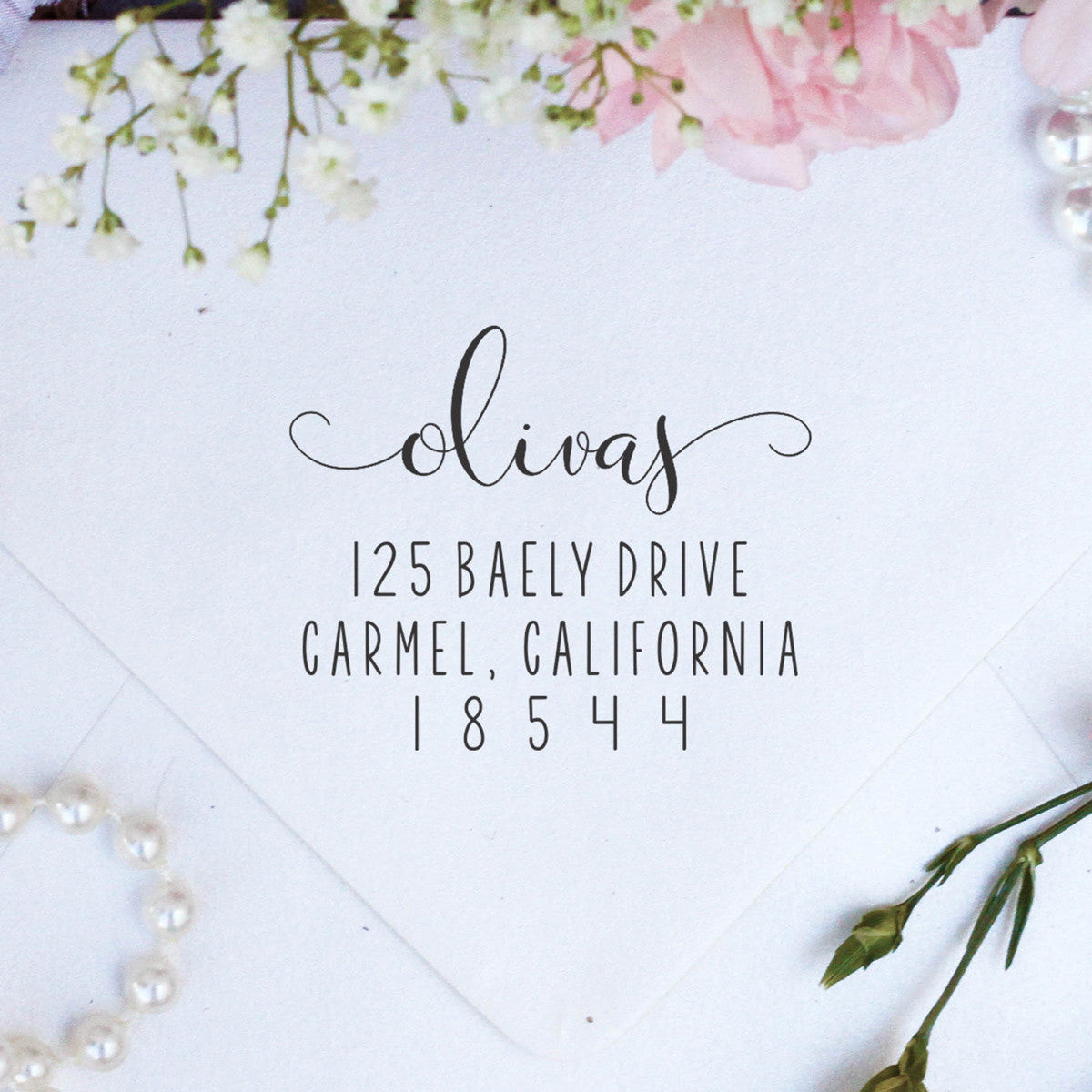custom return address stamp personalized stamps olivas stamp out