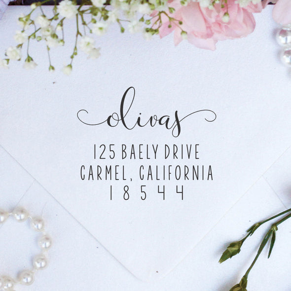Custom Return Address Stamp, Personalized Stamps