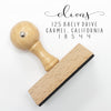 Custom Return Address Stamp, Personalized Stamps, Wood Mount Stamp